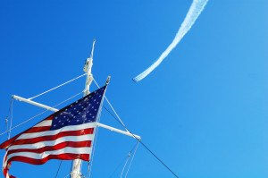 Blue Angels and Flag